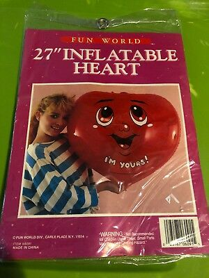 Vintage Fun World Heart Inflatable NOS