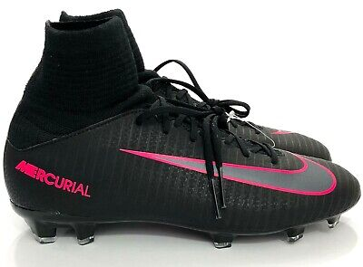 new arrival cc157 93071 NIKE MERCURIAL SUPERFLY V FG Soccer Cleats Black Pink Sz 4 Youth 831943-006  NS1
