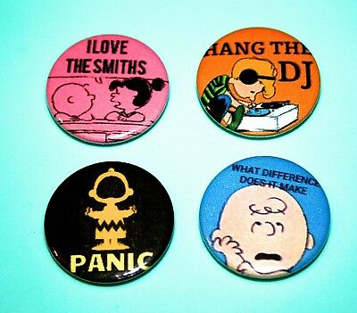 Set Of 4 The Smiths Snoopy Peanuts Inspired Button Pin Badge Hang The Dj