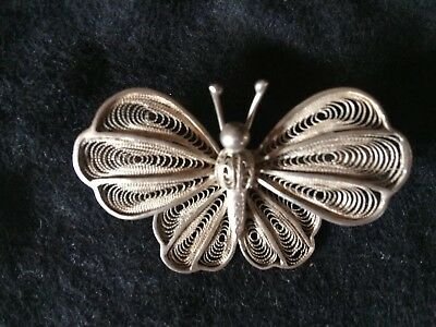 Silver Antique Butterfly Broach