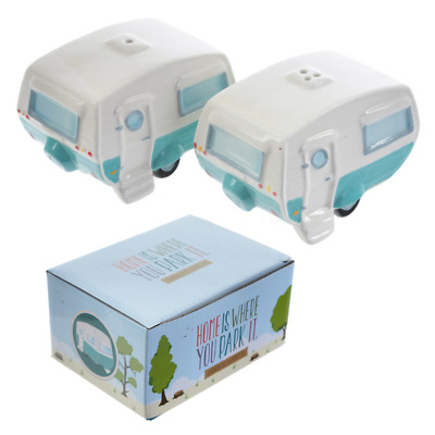 Novelty Salt And Pepper Pots Caravan Themed Boxed Set Condiments Foodie Gifts