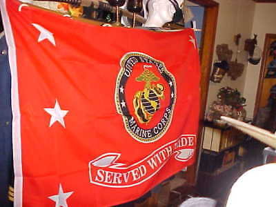 Us.marine Corp Served With Pride  Flag 3Ftx5Ft.