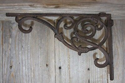 Vintage-look Victorian Wall Shelf Brackets Corbels Cast Iron, 9 1/4 inches, B-62