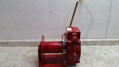 Thern 482 4000 Lb 1st Layer Load Cap Red Steel Hand Winch
