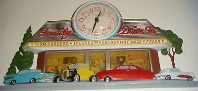 Vintage Coca Cola Wall Clock Family Drive In