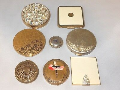 8 Vintage Compacts Hudnut Feraud Foster Nina Ricci Lanchere DuBarty + Lot