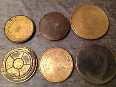 6 Antique Clock Back Doors Metal Brass Ex Clockmakers Spare Parts Ref 11