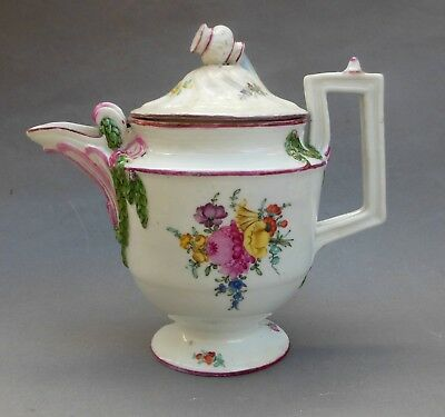 18thC Gardner Porcelain Coffee Pot ~ 21cm ~ Lid Repair ~ Moscow Russian Antique