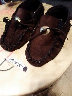 Native American made moccasine's