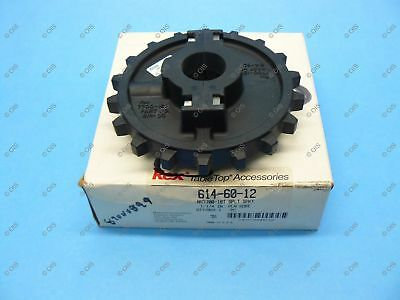 "Rexnord 614-60-12 NS7700 Split Table Top Chain Idler Sprocket 1-1/4"" Bore 18T"