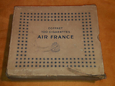 Boite AIR FRANCE cigarettes Carton no tôle fumeur aviation tabac tobacco SEITA