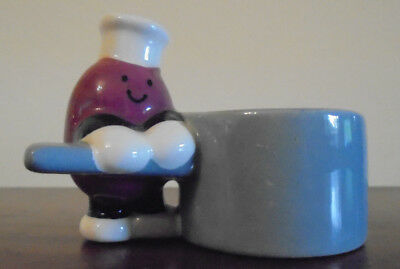 Carlton Ware Egg Cup Red Chef In Hat Bean Bag Productions. Very Rare