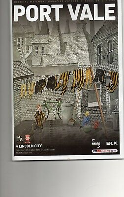 Port Vale v Lincoln City 13th Oct 2018 League 2  New