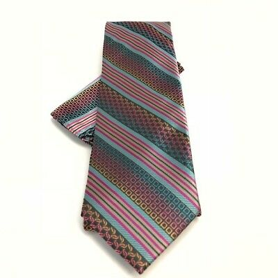 Mens Tie Hanky Set Stacy Adams Business Classic Fashion St189 Pink Paisley Satin