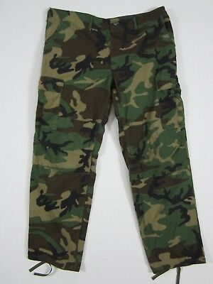 ARMY ISSUE Woodland Camo BDU Pants X-Large-Long Trousers Hot Weather 534