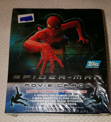 Collectible 2002 Spiderman 24 Sealed Packs in Box of Movie Cards