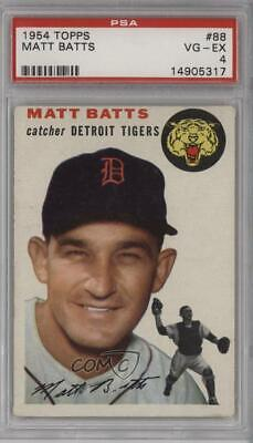 1954 Topps #88 Matt Batts PSA 4 VG-EX Detroit Tigers Baseball Card