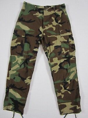 ARMY ISSUE Woodland Camo BDU Pants Medium-Regular Trousers Hot Weather 535