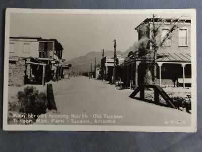Main Street Looking North Old Tucson Real Photo Postcard
