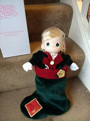 "Precious Moments  2001 16"" Christmas Doll in Stocking, NEW & Packaged in box"
