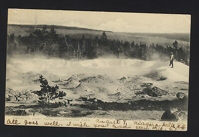 Old Vintage 1905 Mammoth Paint Pots Yellowstone Park Postcard