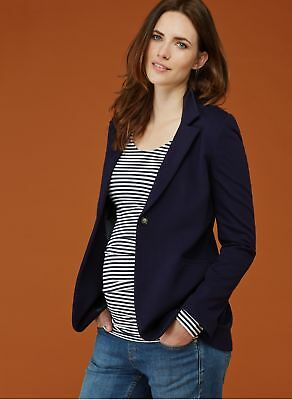 Isabella Oliver Maternity Tailored Suit Blazer, Navy Blue Jacket Small 4 6 New