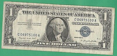 1957 Series United States Dollar Bill-  Circulated- Silver Certificate-