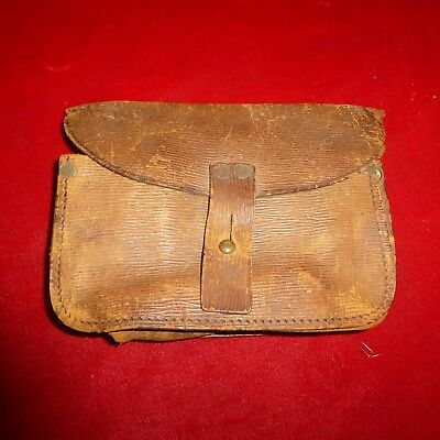 Rare Original Wwi British P1914 Enfield Rifle Ammo Pouch / Dated 1915 & Maker