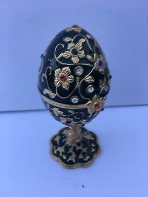 Imperial Green and Gold Egg Great Condition Signed Kuichenco