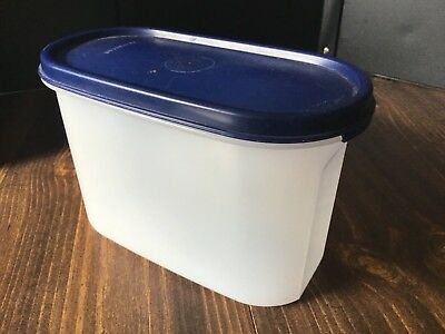 Tupperware #1612 (4¾ Cup- 1.1liter) Modular Mate Blue Seal Lid FREE Shipping