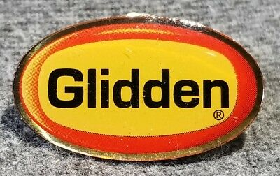 LMH PINBACK Pin GLIDDEN Paint Paints HOME DEPOT Employee Factory Trained 1""