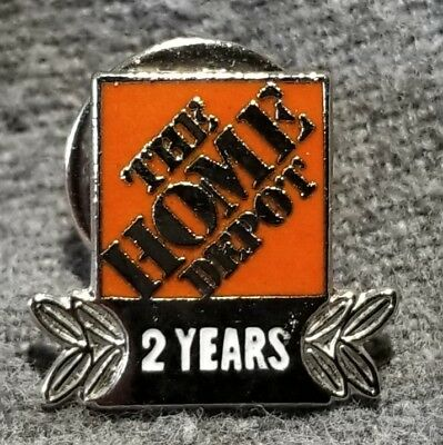 LMH PINBACK Tie Lapel Pin HOME DEPOT Employee Apron 2 YEARS SERVICE Award 5/8""
