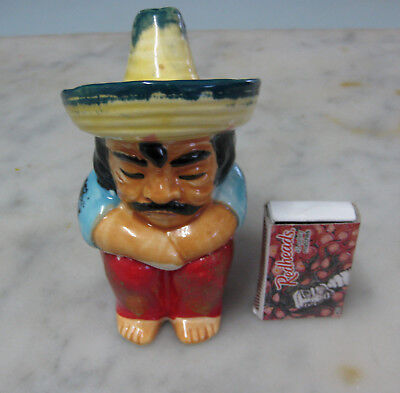 Vintage MEXICAN Salt & Pepper Shaker TWO-PIECE kitchen tableware cooking C1960's