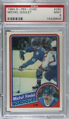 1984-85 O-Pee-Chee #280 Michel Goulet PSA 9 MINT Quebec Nordiques Hockey Card