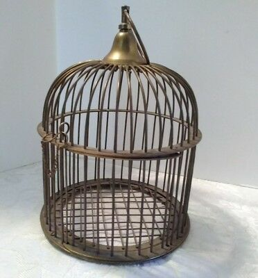 Antique Vintage Brass Birdcage Dome Shaped Bird Cage With Scratch Screen