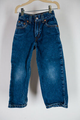 Vintage LEVI'S 550 Jeans Denim Pants 100% Cotton KID Child Unisex sz SLIM 5 Blue