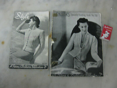 Vintage PATONS Specialty knitting book & STYLE Publication clothes fashion 1950s