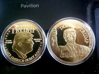 "45th President Donald Trump ""Make America Great Again"" Challenge Coin Signature"