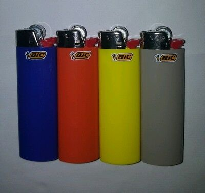Bic J26 Large Maxi 4 Pack Disposable Gas Lighter Tobacco Cigarette Cigar
