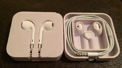 Apple Earbuds - Two (2) Genuine OEM Headphones for iPod iPhone NO MIC, 3.5mm
