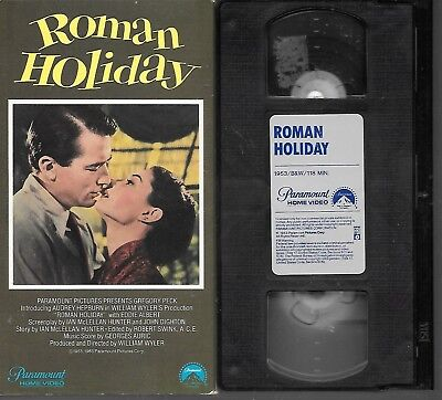 Roman Holiday 1953 Gregory Peck Audrey Hepburn 1983 Paramount VHS GOOD!