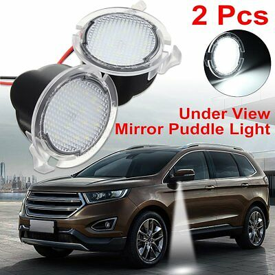 Pcs Led Side Mirror Puddle Lights For Ford F Raptor Edge Fusion Explorer