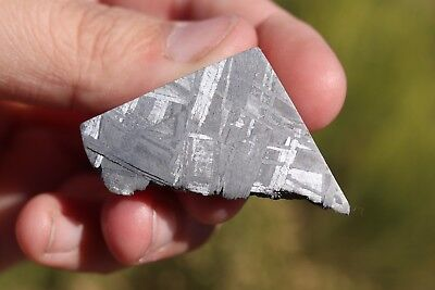 Muonionalusta meteorite etched end cut 36.7 grams!