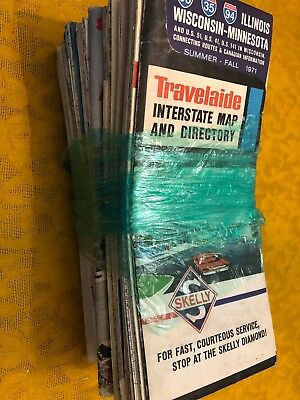 Lot Of 29 Vintage Maps.  Years Date From 1962 - 2007.