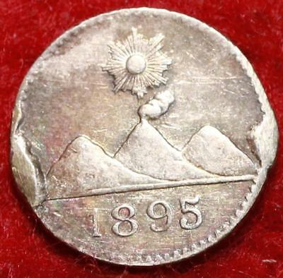 1895 Guatemala 1/4 Silver Real Foreign Coin