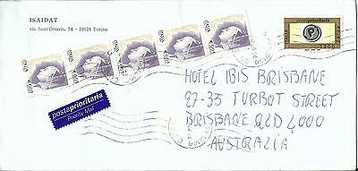 2002 Italy to Australia Priority Mail envelope Used