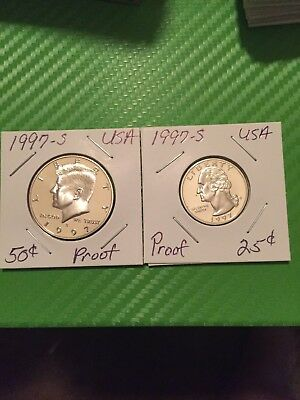 1997s Proof Half And Quarter Proof Coins