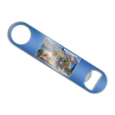 Crater Lake National Park Oregon Animal Stainless Steel Flat Speed Bottle Opener