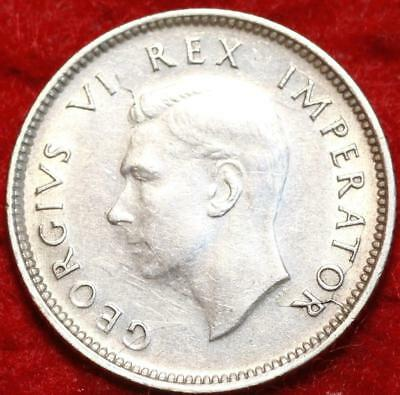 Uncirculated 1942 South Africa 6 Pence Silver Foreign Coin