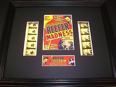 REEFER MADNESS Framed Movie Film Cell X 10 - compliments dvd book poster